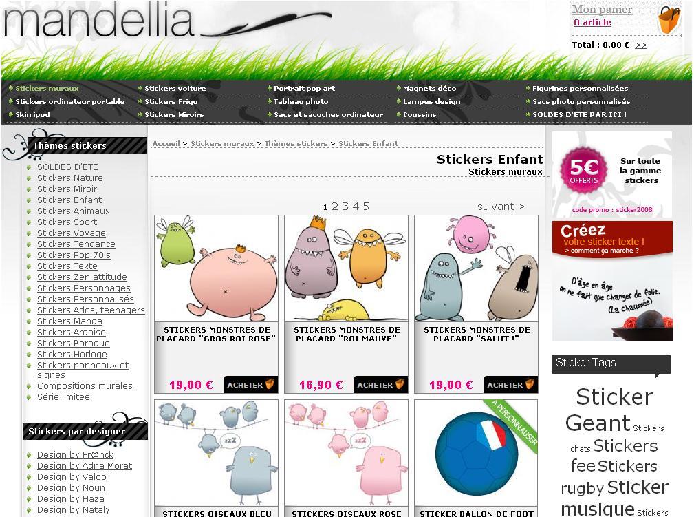 Des stickers pour les enfants par mandellia blog esprit for Les enfants design