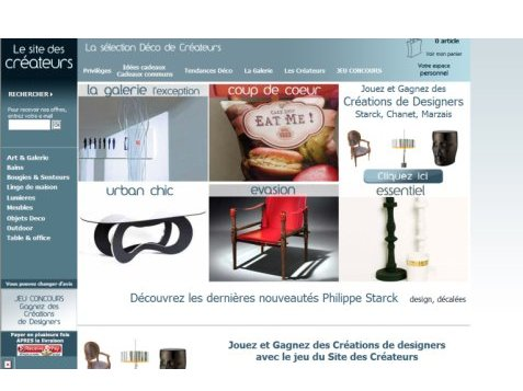 le site des cr ateurs une galerie boutique blog esprit design. Black Bedroom Furniture Sets. Home Design Ideas
