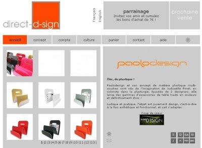 Vente PaoloDesign chez Direct-d-sign en partenariat avec le Blog Esprit Design