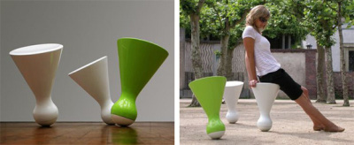Tabouret culbuto Headstand par Qed Design