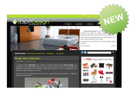 Nouvelle version du Blog Esprit Design