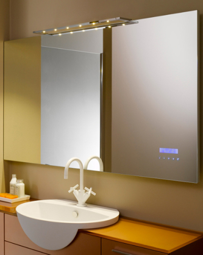 Miroir tactile pour player mp3 blog esprit design for Miroir salle de bain high tech