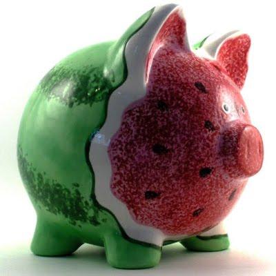 Tirelire cochon haut en couleurs