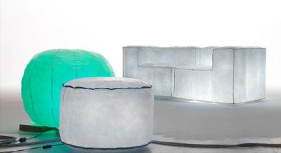 mobilier gonflable lumineux blog esprit design. Black Bedroom Furniture Sets. Home Design Ideas