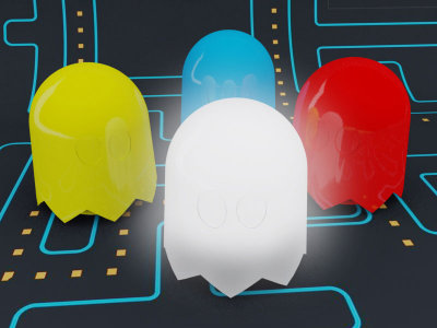 Pac Man Ghost Lamps by Anderson Horta