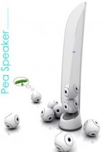 Enceintes nomades Pea Speaker par Lu Le