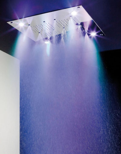 Spectacle eau et lumi re par ib rubinetterie blog esprit for Lumiere dans la douche