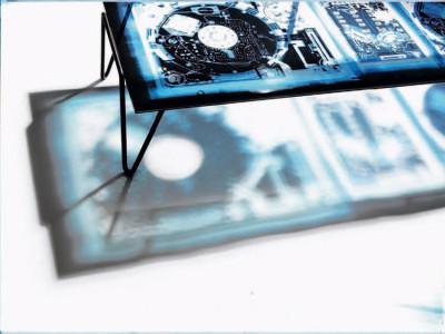 Table basse Xradio Disc par Diesel Creative Team