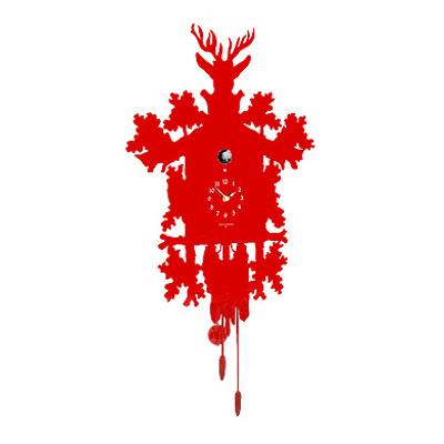 Horloge coucou design, Rouge