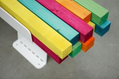 Banc coloré pour Konstfack