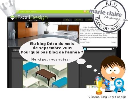 Election du blog deco de l'année : Blog Esprit Design