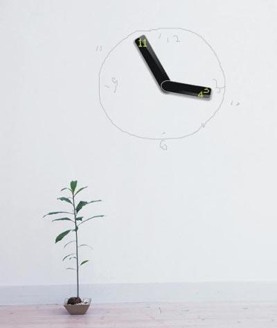 Horloge minimaliste Eclipse par Qian Yiran