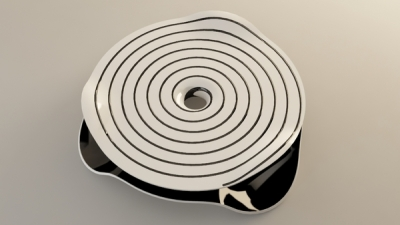Coffee table hypnotique par Svilen Gamolov