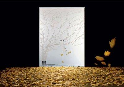 Porte en verre stylisée par Casali
