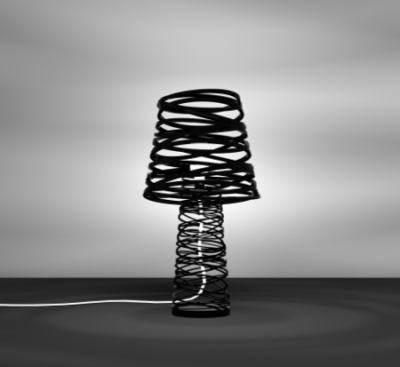 Dima Loginoff, design Russe : lampe curl my light