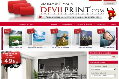 Devilprint impression sur plexi, toile ou l'aluminium