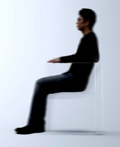 Fauteuil invisible par Tokujin Yoshioka