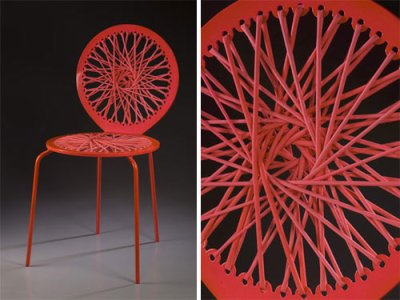 Collection Stretch, chaises par Jessica Carnevale