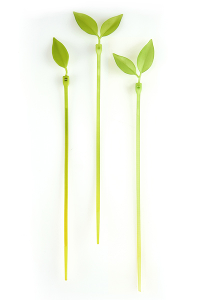 Collier artificiel naturel Leaf Tie par Luf Design
