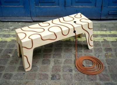 Banc sous tension par Yoav Rehes, blog-espritdesign.com