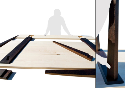 Timber table, par Julian Kyhl, blog-espritdesign.com