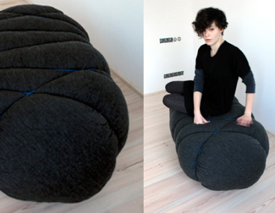 Pouf cloud par le studio Beza, blog-espritdesign.com