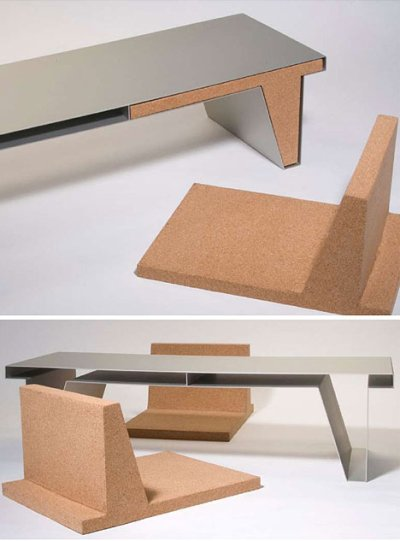 Table + chaises par Nathan Martell, blog-espritdesign.com