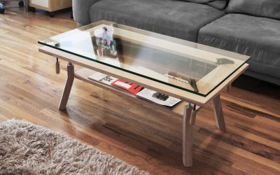Papa comment on fait une table basse blog esprit design - Comment patiner une table basse en bois ...