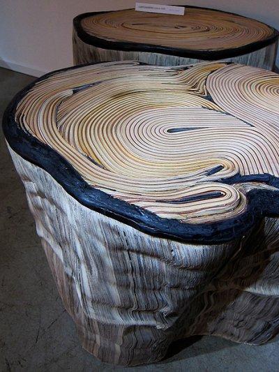 Pouf souche par Daniele Papuli, blog-espritdesign.com