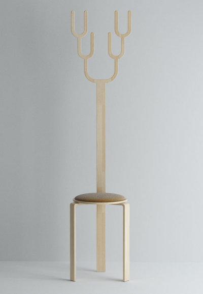 Tabouret à cornes par Jiyoun Kim, blog-espritdesign.com