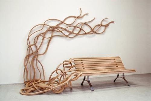 Banc pour grand jardin par Pablo Reinoso