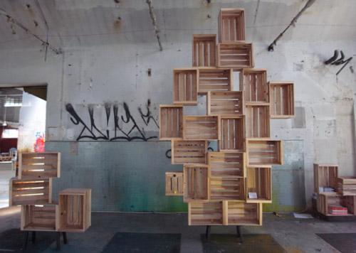 Twits lock rangement modulaire par harry thaler blog for Bibliotheque en caisse de vin