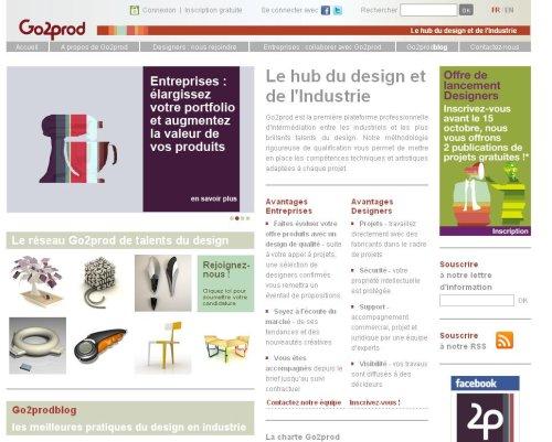 Go2prod, le hub du design et de l'industrie