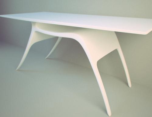 La grâce du cerf, table imaginée par Alex Kozynets