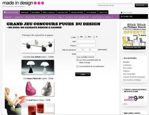 Icônes du design, concours organisé par Madeindesign