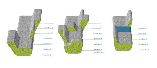Sofa fonctionnel DILIM par Wertel Oberfell