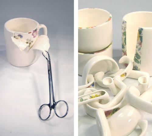 Céramiques disséquées par Beccy Ridsdel