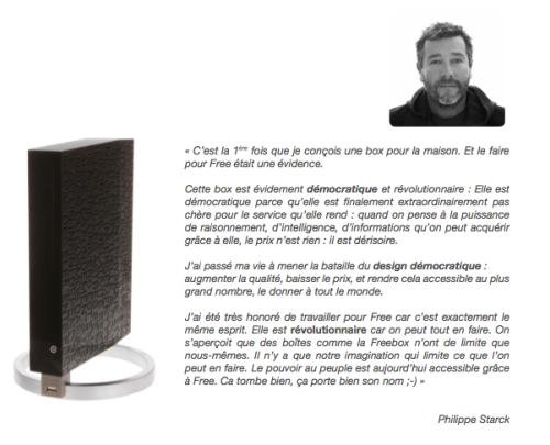 Nouvelle Freebox V6 par Philippe Starck - Blog Esprit Design
