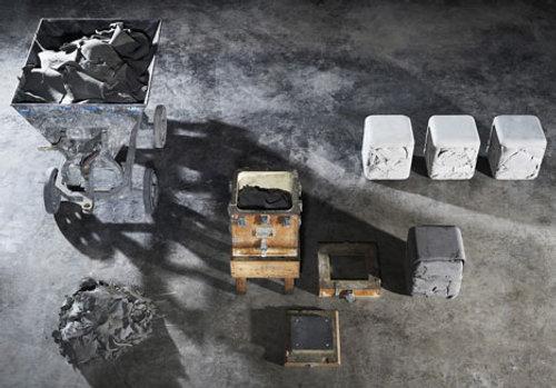 Tabouret Cube Trash par Nicolas Le Moigne