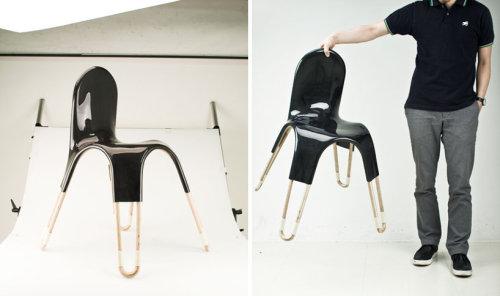 Chaise peau et os par le Studio Maezm