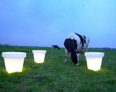 Les luminaires extérieurs : Pot Lumineux