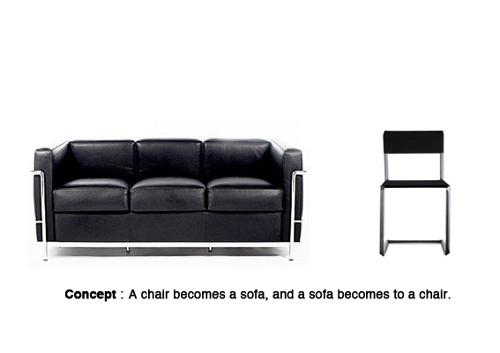 Sofa XXXX : du canapé à la chaise