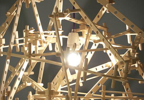 Lampe mécano par Kristoffer Sundin