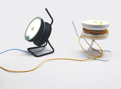 Enrouleur / Lampe Cordula par Stephnie Jasny