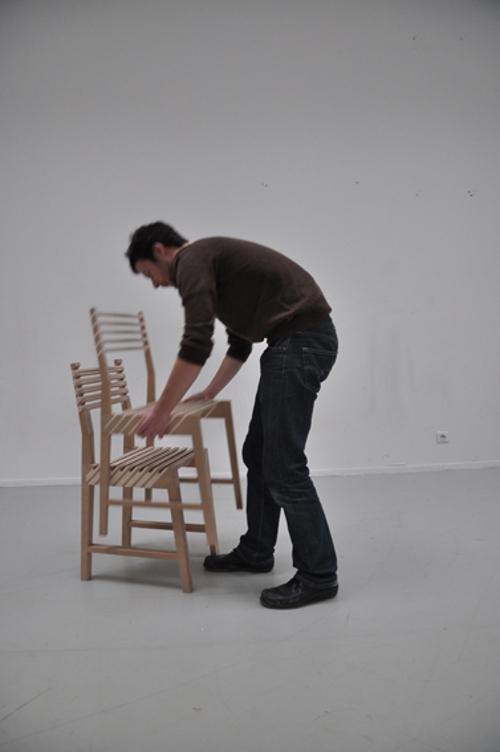 Chaise triplette par Paul Menand