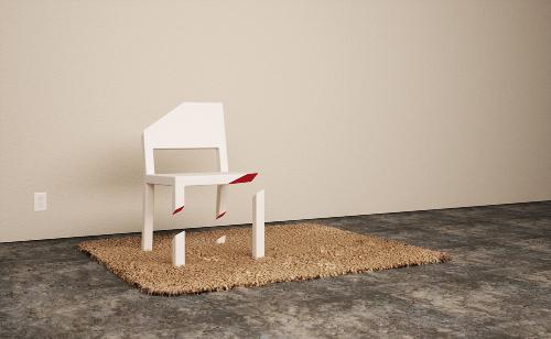 Cut Chair, illusion parfaite par Peter Bristol