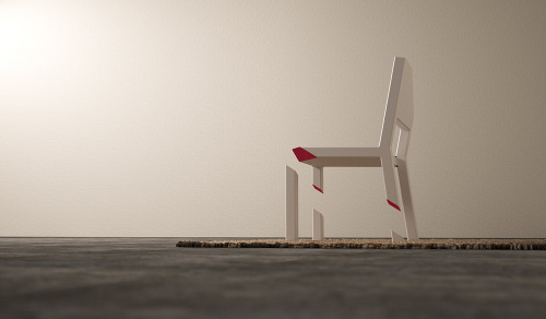 Cut Chair, illusion parfaite par Peter Bristol