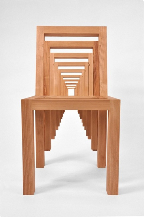 Inception Chair, chaise poupées russes par Vivian Chiu