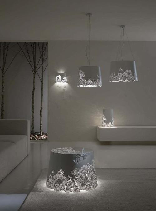 Luminaire en aluminium romantique par Karman