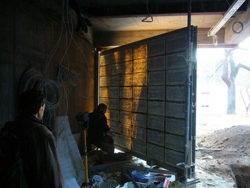 Dedans dehors, le béton transparent par Litracon